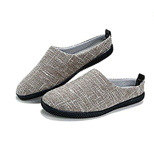 Scarpe 5 Scarpe estivo Colore tela CN45 all'esterno Pantofole uomo Cachi SHI XIANG SHOP Pantofole di EU43 Baotou da di lino UK9 dimensioni casual LI Cachi pigre shoes canvas 4TXwOxq