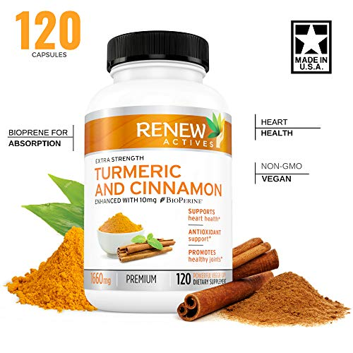 New! Turmeric Cinnamon with BIOPERINE – Organic, GMO Free and Vegan Approved Dietary Supplement – Supports Heart Health, Boosts Antioxidants and Promote Healthy Joints Review