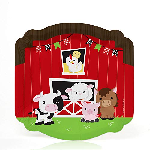 Farm Animals - Barnyard Baby Shower or Birthday Party Dessert Plates (16 Count)