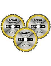 DeWalt DT1962-QZ cirkelsågsblad set 3 st. Stat, silver/gul/svart