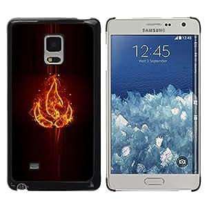 EJOY---Cubierta de la caja de protección la piel dura para el / Samsung Galaxy Mega 5.8 / --Elemento fuego