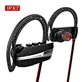 HC-RET Bluetooth Headphones, IPX7 Waterproof Sport Bluetooth Earburds with Mic, V4.1 Noise Cancelling In-Ear Stereo Earphones for Gym Running Workout