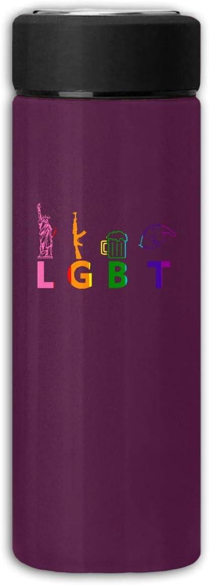 FRS Ltd LGBT Liberty Guns Botella de Agua Termo Esmerilado ...
