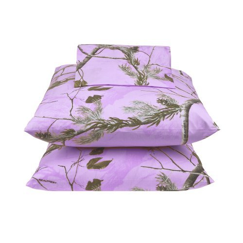 Kimlor Mills Realtree APC Sheet Set, Twin, Lavender