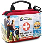 Erste Hilfe Set Outdoor, Fahrrad, Wandern Zubehör mit Zeckenkarte, Signalpfeife und Pinzette – Dein Notfall First Aid…