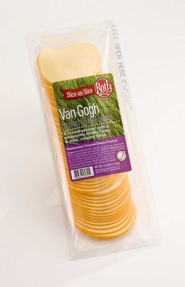 Roth Kase Signatures Slice On Slice Van Gogh Smoked Gouda Cheese, 2.5 Pound -- 4 per case. by Roth Kase