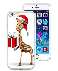 Niche market Phone Case iPhone 6 Case,Christmas giraffe White iPhone 6 4.7 Inch TPU Case 1