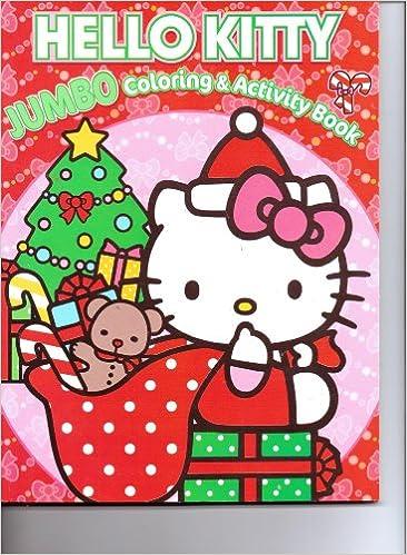 Hello Kitty Christmas.Hello Kitty Christmas Jumbo Coloring Activity Book
