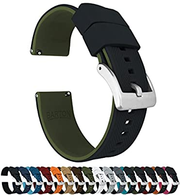 Barton Elite Silicone Watch Bands - Quick Release - Choose Color - 18mm, 19mm, 20mm, 21mm, 22mm, 23mm & 24mm Watch Straps