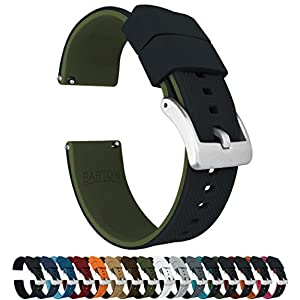 Barton Elite Silicone Watch Bands – Quick Release – Choose Color – 18mm, 19mm, 20mm, 21mm, 22mm, 23mm & 24mm Watch Straps