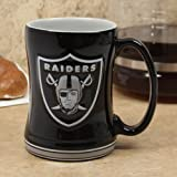 NFL Sculpted Coffee Mug, 14 Ounces, Oakland Raiders
