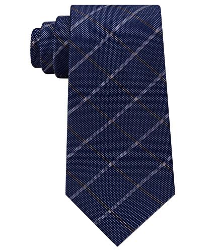 Michael Kors Men's Stonehurst Grid Silk Tie (Navy, ONE SIZE)