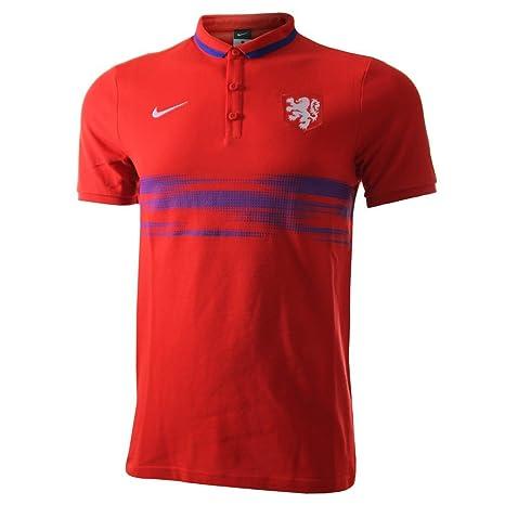 Nike - Holanda Polo Rojo 15/16 Hombre Color: Red Talla: XXL 50-52 ...