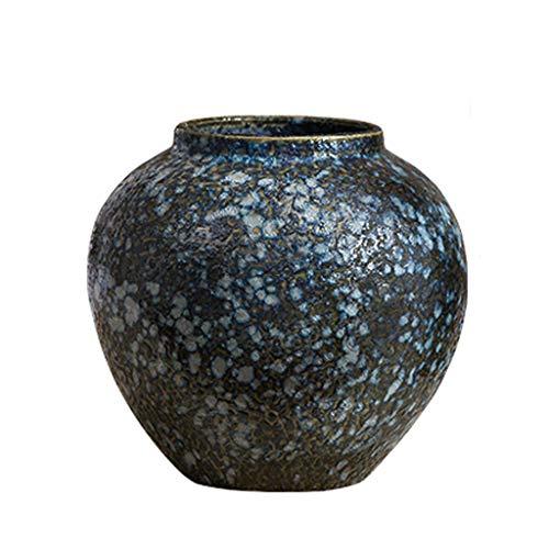 A Vase FJH en céramique grès rétro Vieux Fleur décoration de la Maison OrneHommests Sauvage (Taille   A)