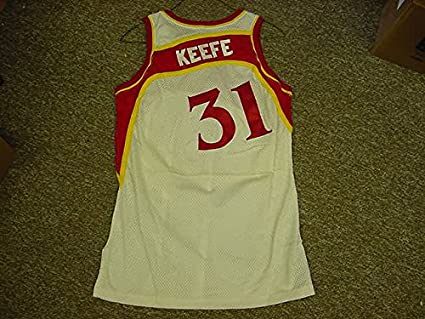 bc0999e0b Image Unavailable. Image not available for. Color  Adam Keefe Atlanta Hawks  1992-93 Game Worn Jersey