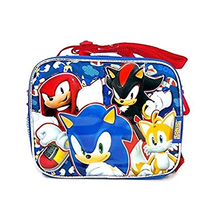 Sonic The Hedgehog Boys School Backpack Lunch Box Combo Set Black Kids