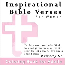 Amazon com: Inspirational Bible Verses for Women: Coloring Book for