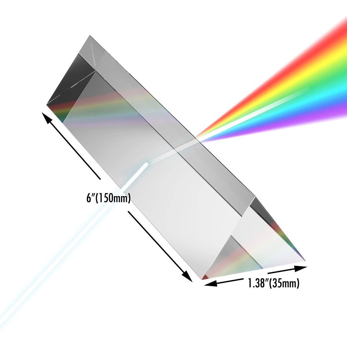 Unbreakable Light Prism for Photography Rainbow Filter Photo Effect Optical Camera Grade Crystal Triangular Glass with by Picino