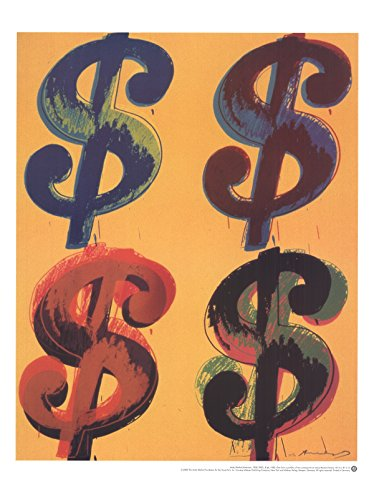 (Andy Warhol-Four Dollar Sign-2000 Poster )