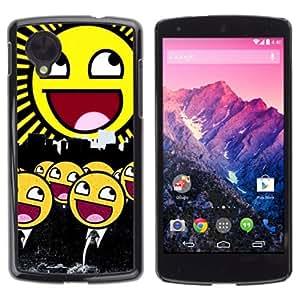 YOYOSHOP [Funny Awesome Smiley Army] LG Google Nexus 5 Case