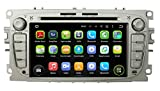 (Silver) 7 Inch Android 5.1 OS 1024x600 Touchscreen Quad Core 1.6G CPU 16G Flash Car DVD GPS for Ford Mondeo(2007-2012)/Focus(2008-2011)/S-Max(2007-2012)