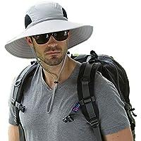 Men's Waterproof Sun Hat, Outdoor Sun Protection Bucket Safari Cap for Safari Fishing Hunting