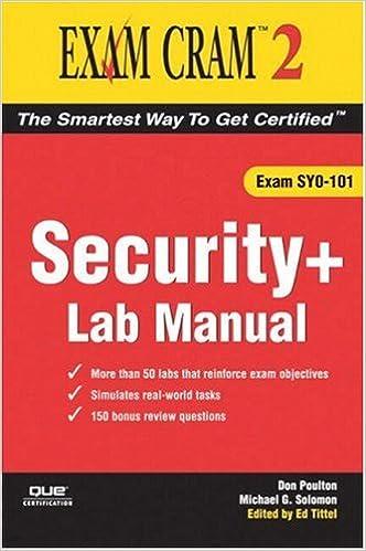 Security+ Exam Cram 2 Lab Manual