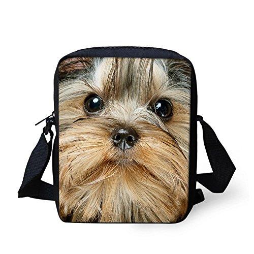 Yellow Handbags Junior - UNICEU Yorkshire terrier Print Small Wallet Women Kids Sling Messenger Handbag