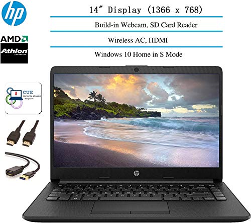 2020 HP 14 inch HD Laptop Newest for Business and Student, AMD Athlon Silver 3050U (Beat i5-7200U), 802.11ac, WiFi…