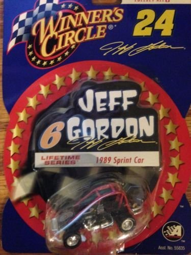 Winners Circle Jeff Gordon #6 Lifetime Series #4 of 6 1989 Indianapolis Raceway Park Gordon First Asphalt Race Sprint Car - Diecast Sprint Car