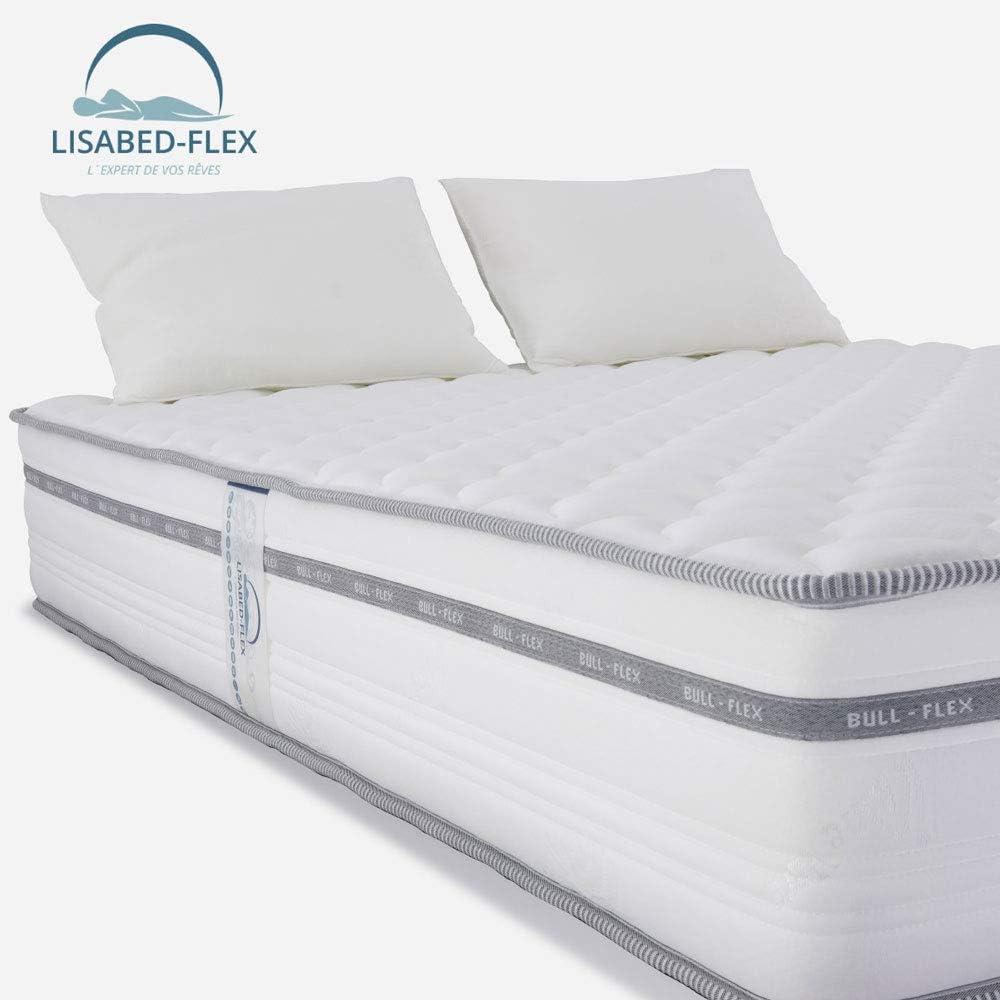 M/ódele Bull-Flex Memory Soft Pack Matelas/_Offre Deux Oreillers Noyau Fresh Natur Gamme Prestige Hotel Lisabed Flex 90x190 18 cm