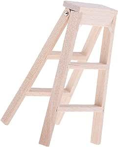 Amazon.es: Baoblaze 1/12 Casa de Muñeca Miniatura Mini Escalera de Madera Plegable de Jardín al Alire Libre: Juguetes y juegos