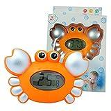 Lanlan Orange Cute Baby Crab Electronic Thermometer Bath Tub Toys Environmental Protection Plastic for Kids