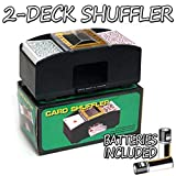 Brybelly 2 Deck Automatic Card Shuffler w/2 Free Decks of Bicycle Playing Cards – Battery-Operated Electric Shuffler - Great for Home & Tournament Use for Classic Poker & Trading Card Games