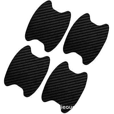 4Pcs Car Door Handle Grab Car Sticker Protective Film Carbon Fiber Handle Wrist Sticker Door Bowl Paste