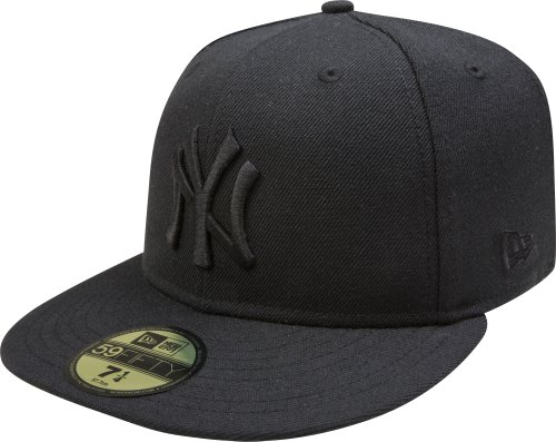 MLB New York Yankees Black on Black 59FIFTY Fitted Cap, 7 1/