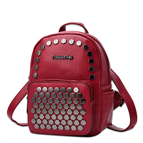 Girl for Bags Nevenka Soft Young Little Cute Red Purses Leather Women Faux Backpack qPxHwzBq