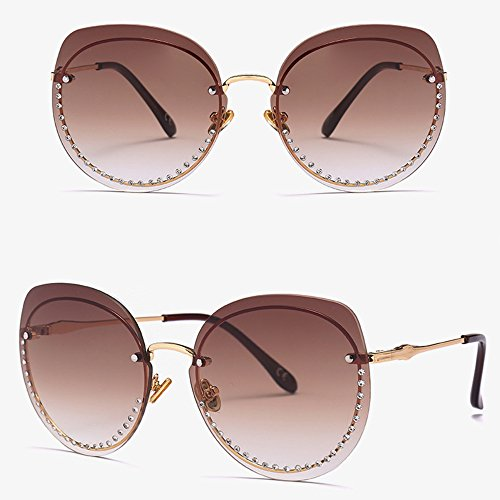 De De Sol Moda Diamantes De con Gafas con Tendencia Pink Brass Sol Gafas dxCg8wBq