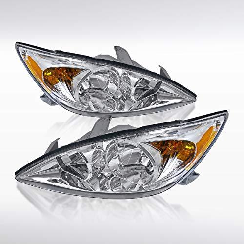 (Autozensation For Toyota Camry LE SE 4DR Sedan JDM Crystal Chrome Headlights Pair)