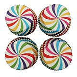 Weiliru 100pcs Cupcake Wrappers Bake Cake Paper Cups Little Vine Lace Laser Cut Liner Baking Cup Muffin Case Trays