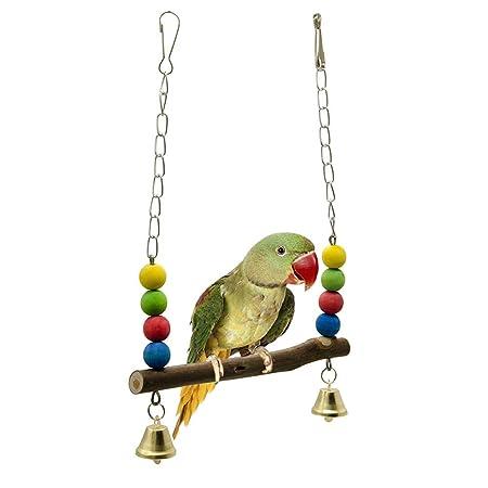 Yissma Juguete para pájaros, 1 Piezas Colorido Columpio Pájaro ...