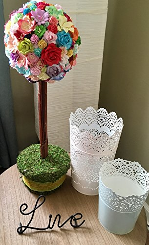 Amazing Spring Topiary featuring Handmade Mulberry Paper Flowers (Paper Topiary)