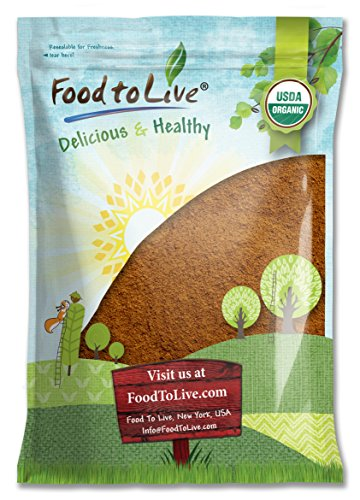Food to Live Certified Organic Cocoa Powder (Natural, Non-Dutched, Non-GMO, Kosher, Unsweetened, Fair Trade, Bulk) (16 Pounds)