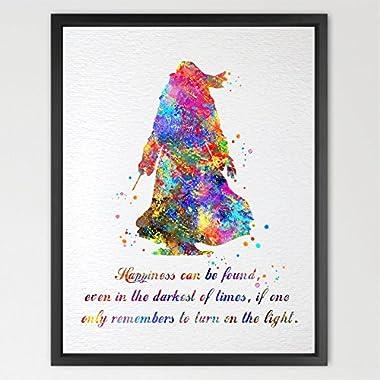 Dignovel Studios 8X10 Dumbledore Harry Potter Inspired Watercolor illustration Quote Art Print Wall Art Poster Home Decor Art N334