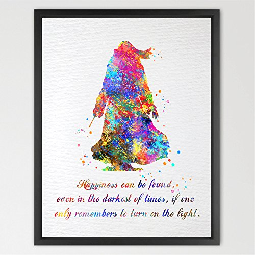 Dignovel Studios Dumbledore Harry Potter Inspired Watercolor illustration Quote Art Print Wall Poster Home