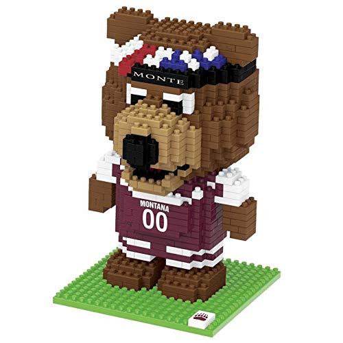 FOCO NCAA Montana Grizzlies 3D Brxlz Mascot Building Blocks SET3D Brxlz Mascot Building Blocks Set, Team Color, One -
