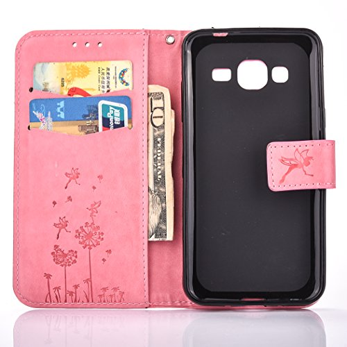 Case PU Function Case Galaxy Flip J3 flower Galaxy Slots Folio couple Leather with series Pouch Wallet Stand Phone Butterfly 2016 J3 BONROY® Cover Money Book Samsung Case Holster Pink J320F love Card Dandelion O5Fw1qF