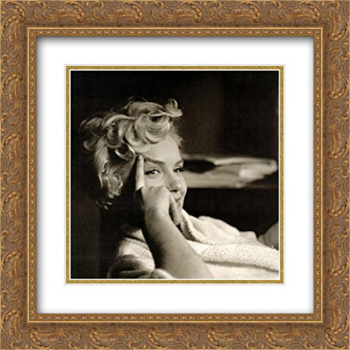 Marilyn Monroe 2X Matted 20x20 Gold Ornate Framed Art Print by Elliott Erwitt