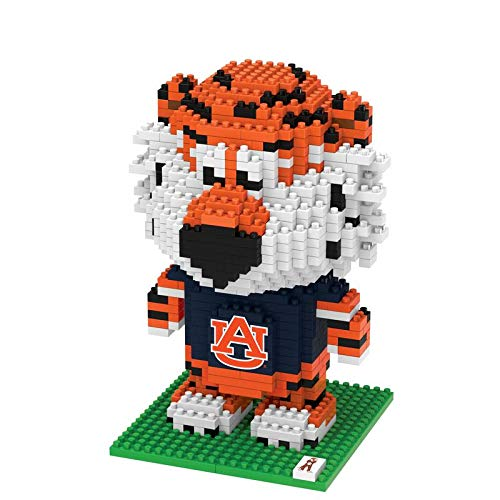 - FOCO NCAA Auburn Tigers 3D Brxlz Mascot Building Blocks SET3D Brxlz Mascot Building Blocks Set, Team Color, One Size