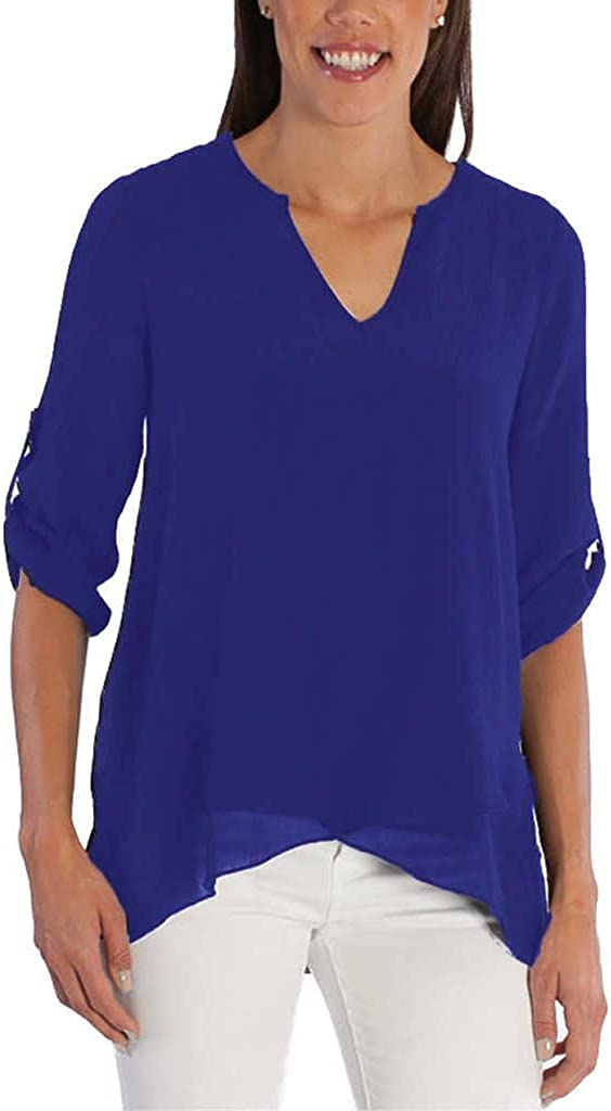 Fever Ladies/' Roll Tab Blouse
